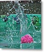 Splash Pool Metal Print