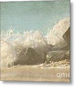 Splashing Wave Metal Print