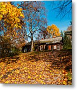 Splendor Of Autumn. Wooden House Metal Print