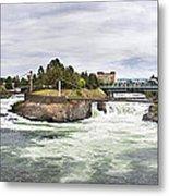 Spokane Falls From The Lincoln Street Bridge Metal Print