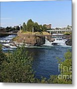 Spokane Falls Hdr Metal Print by Carol Groenen