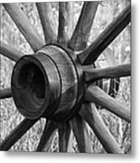 Spokes Metal Print by Ernie Echols