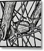 Spokes Metal Print by William Cauthern