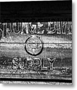Sponge Diver Supply Metal Print