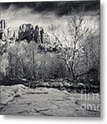 Spooky Castle Rock Metal Print by Darcy Michaelchuk