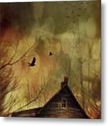 Spooky House At Sunset  Metal Print