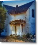 Spooky Old House Metal Print