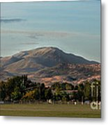 Sport Complex And The Butte Metal Print