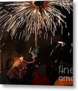 Spray Of Sparks Metal Print