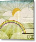 Spring And Summer Postcard Metal Print