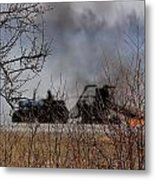 Spring Burning Of The Blueberry Fields Metal Print by Susan Capuano