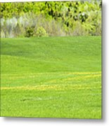Spring Farm Landscape In Maine Metal Print