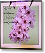 Spring Flowering Tree Inspirational Rumi Floral Metal Print