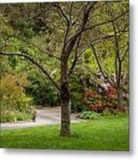 Spring Garden Landscape Metal Print