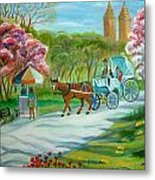 Spring In New York Metal Print