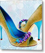 Spring In Your Step Pumps Metal Print