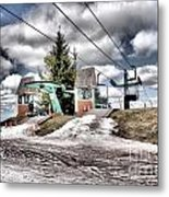 Spring Mud Skiing Metal Print