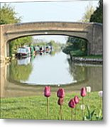 Spring On The Oxford Canal Metal Print