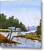 Spring On The River Metal Print