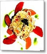 Spring Pasta Metal Print