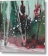 Spring Snowfall  Metal Print