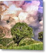 Spring Storm In Tuscany Metal Print