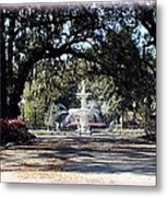 Spring Walk Through Forsyth Park Metal Print