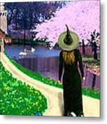 Spring Witch Metal Print