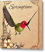 Springtime - Hummingbird Metal Print