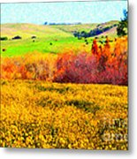 Springtime In The Golden Hills . 7d12402 Metal Print