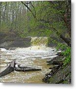 Springtime Waterfall Metal Print