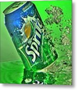 Sprite Splash Metal Print