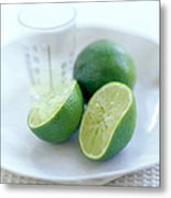 Squeezed Lime Metal Print by David Munns