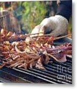 Squid Skewers Barbecue Metal Print