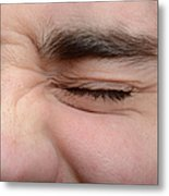 Squinting Eyes Metal Print