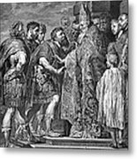 St. Ambrose & Theodosius Metal Print
