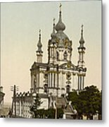 St Andrews Church In Kiev - Ukraine  Metal Print