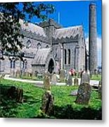 St Canices Cathedral &, Round Tower Metal Print