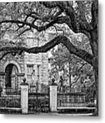 St. Charles Ave. Monochrome Metal Print