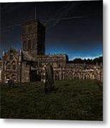 St Davids Cathedral Pembrokeshire Dusk Metal Print
