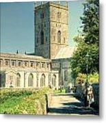 St Davids Cathedral Pembrokeshire Lomo Metal Print