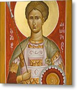 St Demetrios The Myrrhstreamer Metal Print by Julia Bridget Hayes