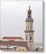 St. George In Snow - Freising Bavaria Germany Metal Print