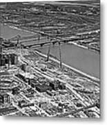 St. Louis Arch Construction Metal Print