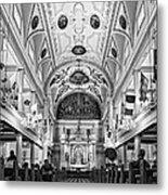 St. Louis Cathedral Monochrome Metal Print