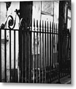 St Louis Cemetery Number One Tombs And Wrought Iron Metal Print