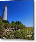 St Marks Lighthouse Along The Gulf Coastst Metal Print