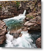 St. Mary Falls Glacier National Park Metal Print