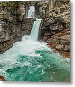 St. Mary Falls In Spring Metal Print