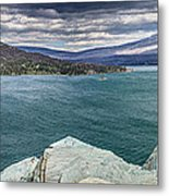 St. Mary Lake Under Stormy Skies Metal Print